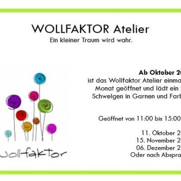 Eröffnung des Wollfaktor Ateliers