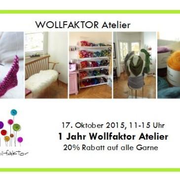 Wollfaktor-Atelier Geburtstagsrabatt