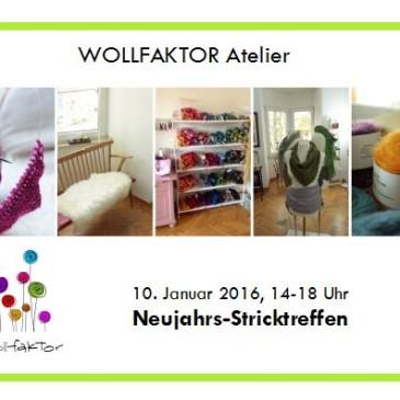 Neujahrsstricktreffen im Wollfaktor Atelier